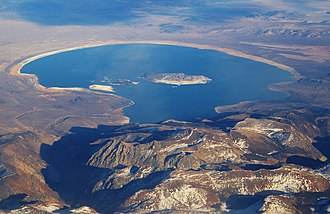 Mono Lake - Aerial photograph of Mono Lake