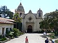 Monterey mission california main chapel from outside.jpg