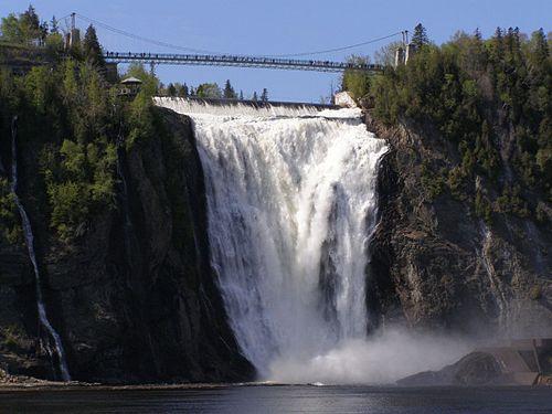 Montmorency Falls, bridge, Quebec City