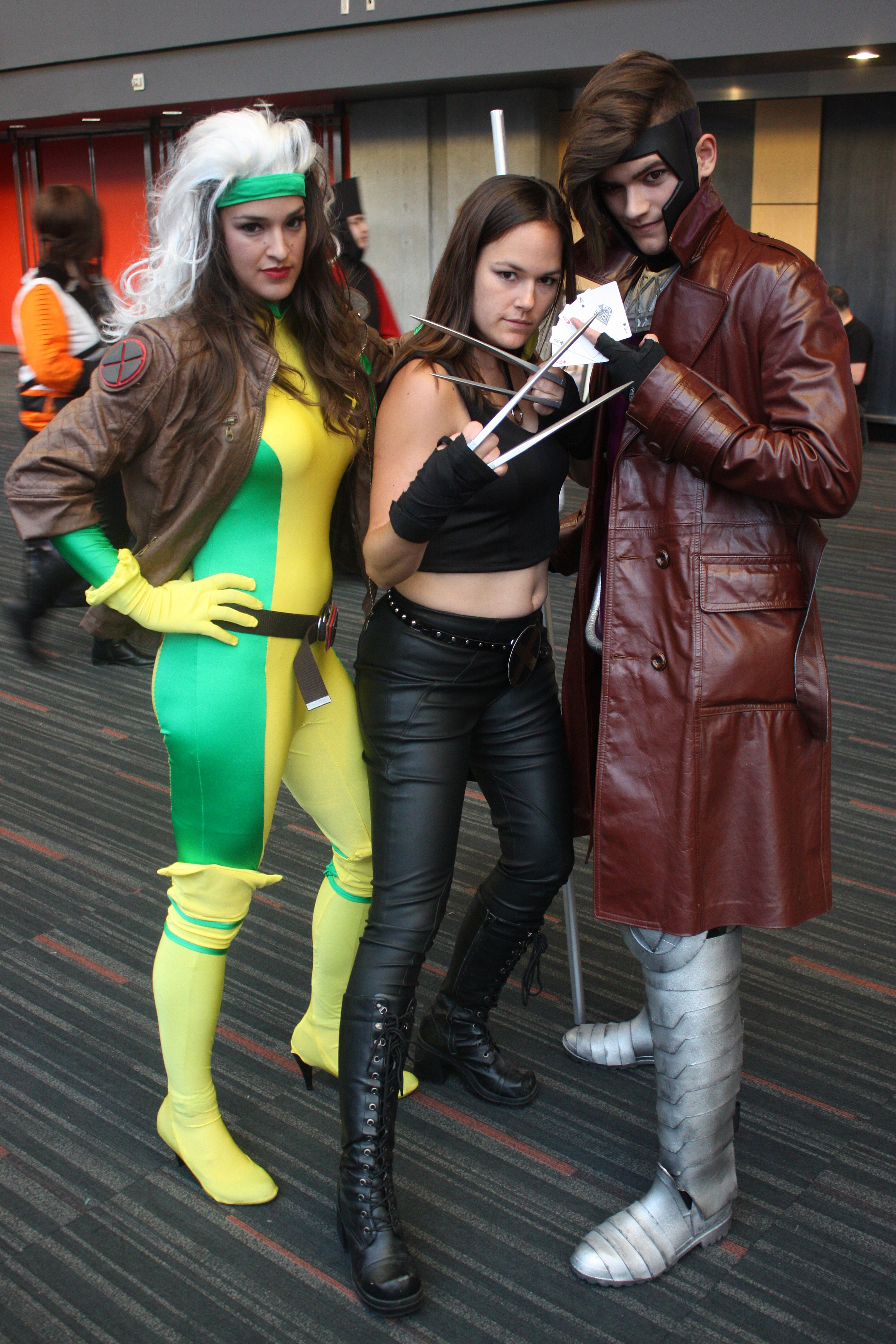 File:Montreal Comiccon 2015 - Rogue, X-23 and Gambit ... X 23 Gambit
