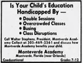 Montverde Academy advertisement (Miami News, page 18, September 15 1972).png