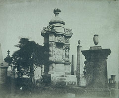 Monument in Glasgow Necropolis to John Henry Alexander, d. 1851, sculpted by Alexander Handyside Ritchie.jpg