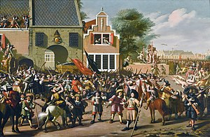 Johan de Witt - A painting depicting the phases of the murder of the De Witts.