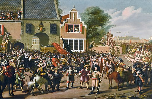 Moord op de gebroeders De Witt, door Pieter Frits (1627-1708)