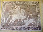 Mosaico con bellerofonte e la chimera, da rodi sud, 300-270 ac. ca. 02.JPG
