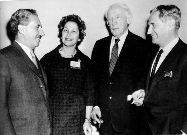 Moshe Sharett, Miriam Freund, Louis Lipsky & Nahum Goldmann, 1960