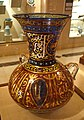 Mosque Lamp in Mamluk style, Europe, 20th century, polychrome enameled glass - Huntington Museum of Art - DSC04869.JPG