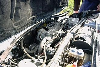 Alfa Romeo Boxer engine - Image: Motor po nehode