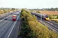 Motorway and Railway, south of Watford Gap - geograph.org.uk - 224049.jpg