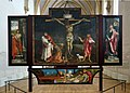 Musée Unterlinden - Matthias Grünewald - retable d'Issenheim - Saint Sébastien, Crucifixion, Saint Antoine abbé & Déposition (1512-1516) (1).jpg