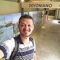 Museu Nacional, RJ Corredor da exposição do período Devoniano.jpg