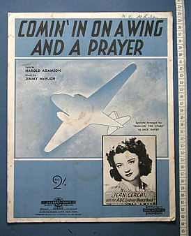 Обложка песни «Comin' in on a Wing and a Prayer»
