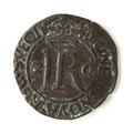 Mynt av silver. 2 öre. 1592 - Skoklosters slott - 109080.tif
