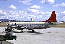 N130US L188 Electra II Northwest A-l GEG 06APR67 (5938044889).jpg