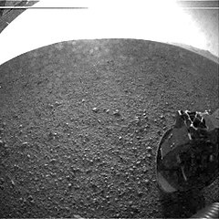 {{{First image from Curiosity rover}}}