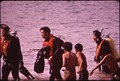 NAVAJO BOYS WATCH A SCUBA DIVING CLASS AT LAKE POWELL - NARA - 544129.tif