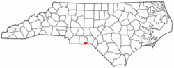 Location of McFarlan, North Carolina