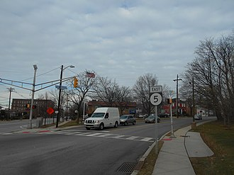 New Jersey Route 5 - Route 5 east at the intersersection with US Route 1/9 in Ridgefield