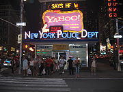 NYPD kiosk at Times Square