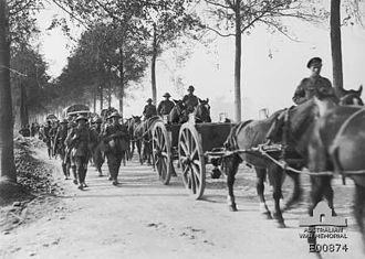 4th Infantry Brigade (New Zealand) - New Zealand infantry marching up to the Ypres sector in anticipation of the attack on Gravenstafel Spur, September 1917.
