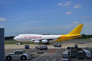 Air Hong Kong - An Air Hong Kong aircraft landed in Narita International Airport.