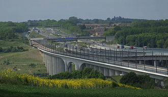 Halcrow Group - The 1260m long Medway Viaduct carries the high-speed Channel Tunnel Rail Link across the estuary of the River Medway. The viaduct is the largest bridge on the CTRL route and it has become a symbol for the new high speed railway.