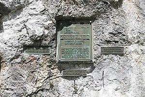 Conrad Kain - Conrad Kain memorial at Reisstal (Naßwald)