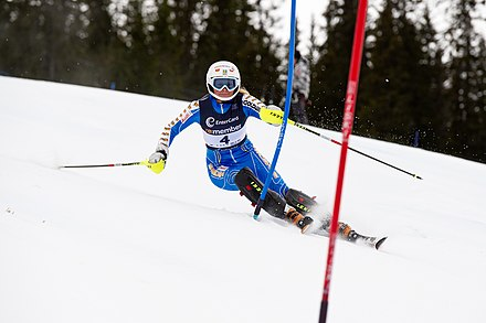 Nathalie Eklund skis slalom at Trysil, Norway in 2011 Nathalie Eklund - NM i Trysil.jpg