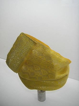 "Tengkolok - ""Solek Balung Raja"", a destar wore by Sultan of Selangor during coronation ceremony or birthday ceremony."