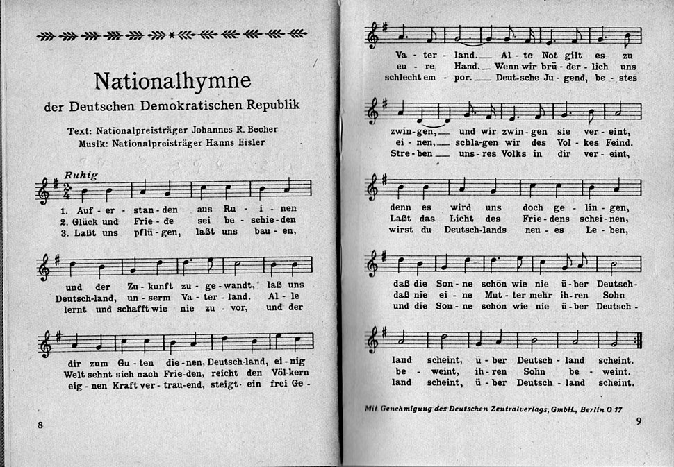 Nationalhymne der DDR