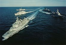 NATO and U.S. ships enforcing the Operation Sharp Guard blockade