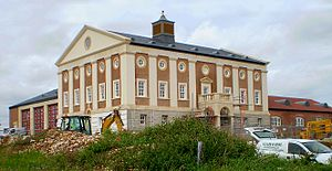 Poundbury - Image: New Firehouse