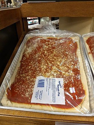 Italian tomato pie - Image: New Hartford NY Hannaford Tomato Pie