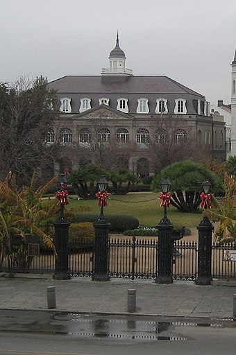 The Cabildo, next to the Saint-Louis Cathedral (See photo below.) New Orleans Cabildo.jpg
