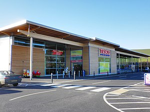 Tesco - A branch of Tesco in Crediton.