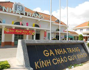 Nha Trang railway station - Nha Trang Station, building with decoration at Chinese New Year 2012