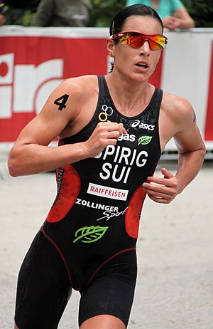 Nicola Spirig - Nicola Spirig at the World Championship Series triathlon in Kitzbuhel, 2010.