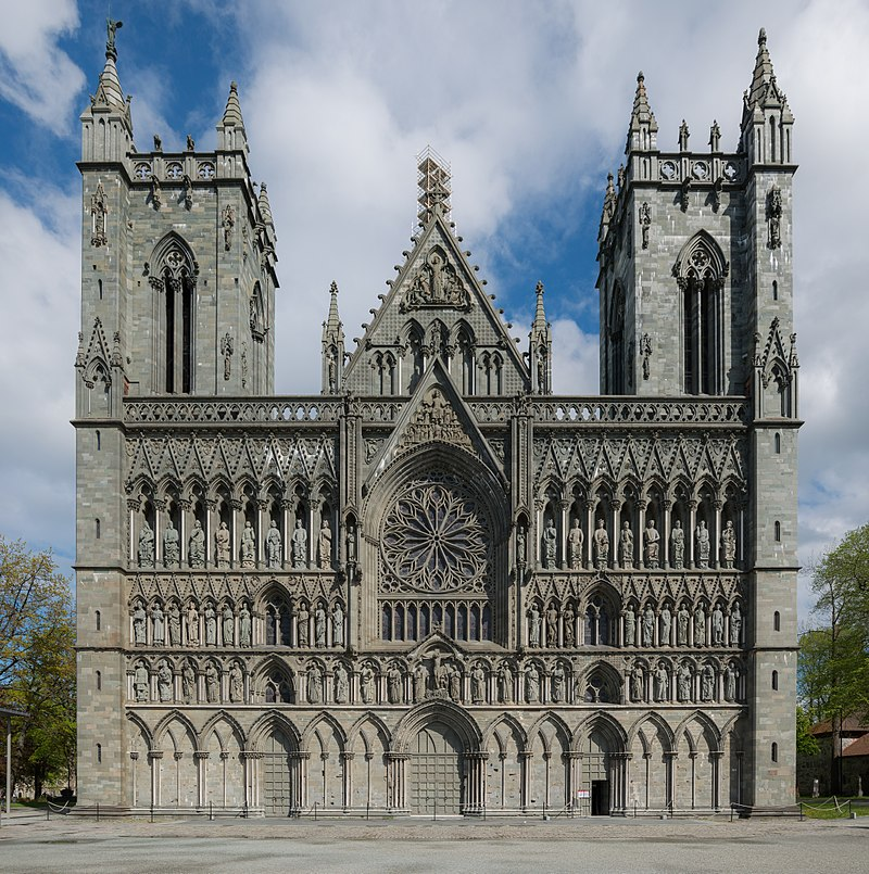 Nidaros Cathedral, Trondheim, West view 20150605 1.jpg