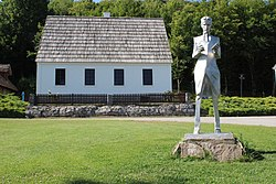 Statue of Nikola Tesla at the Nikola Tesla Memorial Center in Smiljan