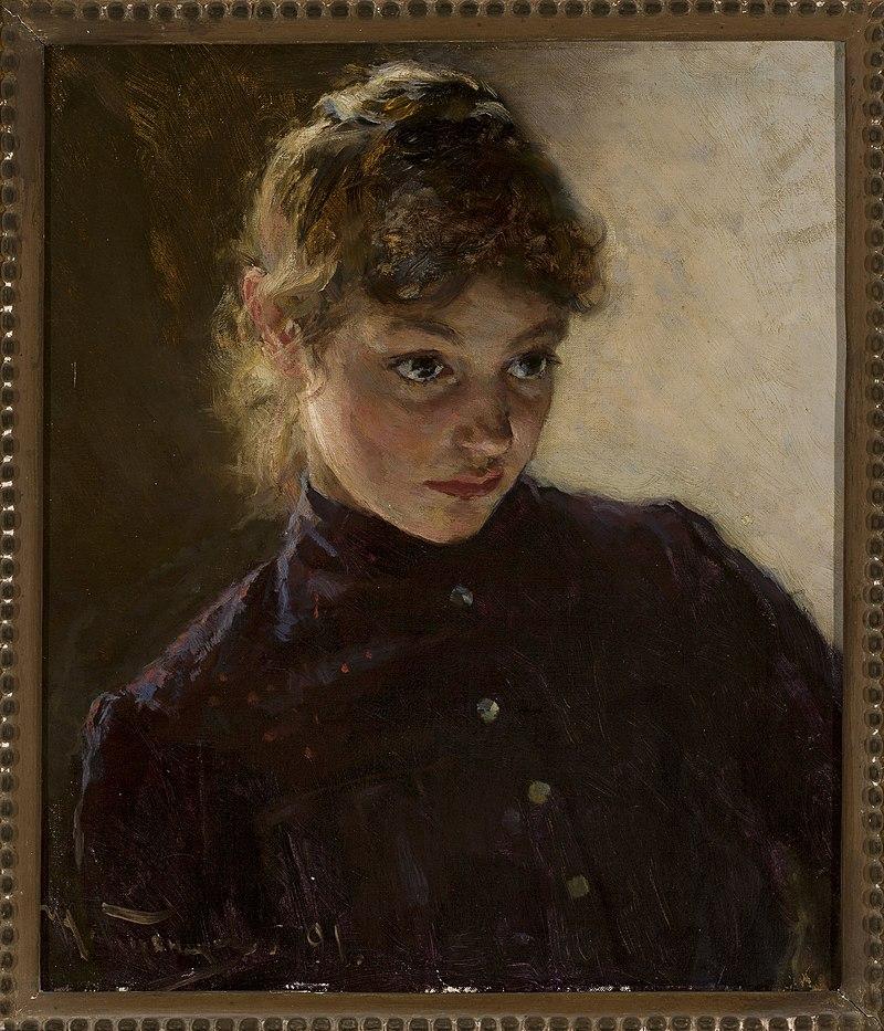 Nikolai Dmitrievich Kuznetsov - Portrait of a young girl - M.Ob.457 MNW - National Museum in Warsaw.jpg