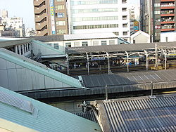 Nippori Station Tokyo elevated view.jpg