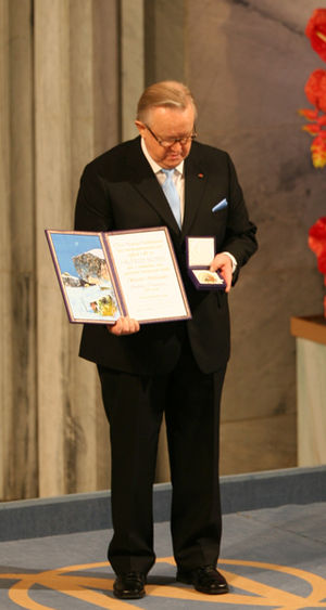 Nobel Peace Prize 2008, Martti Ahtisaari