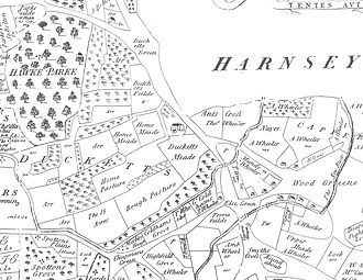 Noel Park - Image: Noel Park and Wood Green, Earl of Dorset's Survey