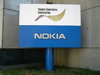 Nokia Networks - Sign at the Taiwanese headquarters of Nokia Siemens Networks in Songshan District, Taipei.