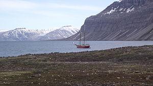 Noorderlicht in Spitsbergen 1.JPG