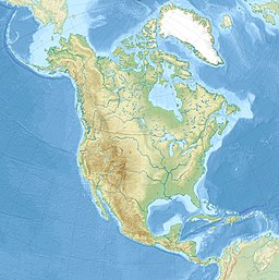 Location of Lake Erie in North America.