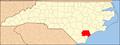 North Carolina Map Highlighting Pender County.PNG