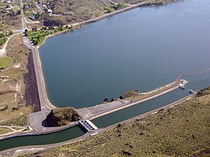 Columbia Basin Project - North Dam on Banks Lake with Feeder Canal