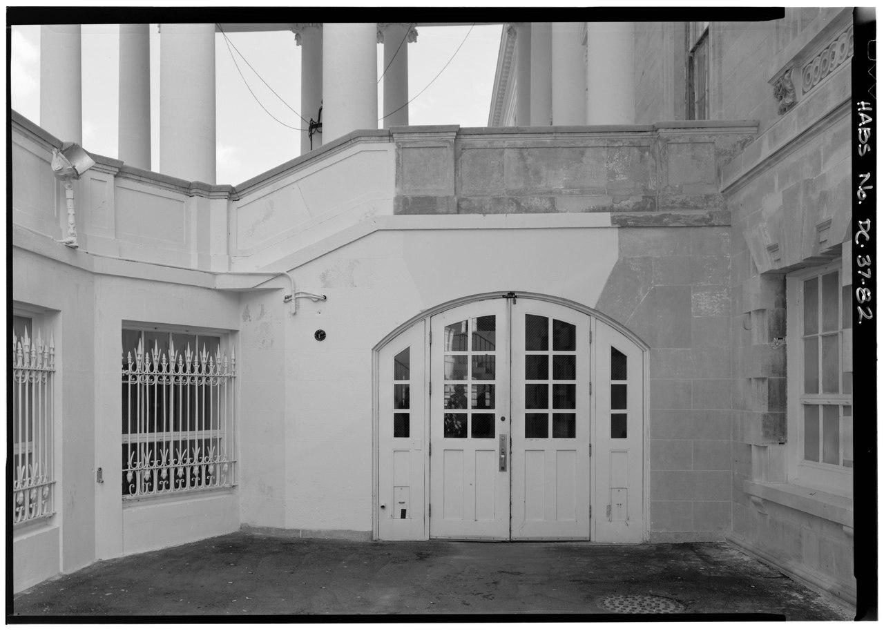 Ground Floor Portico Elevation : File north portico view of west elevation ground floor