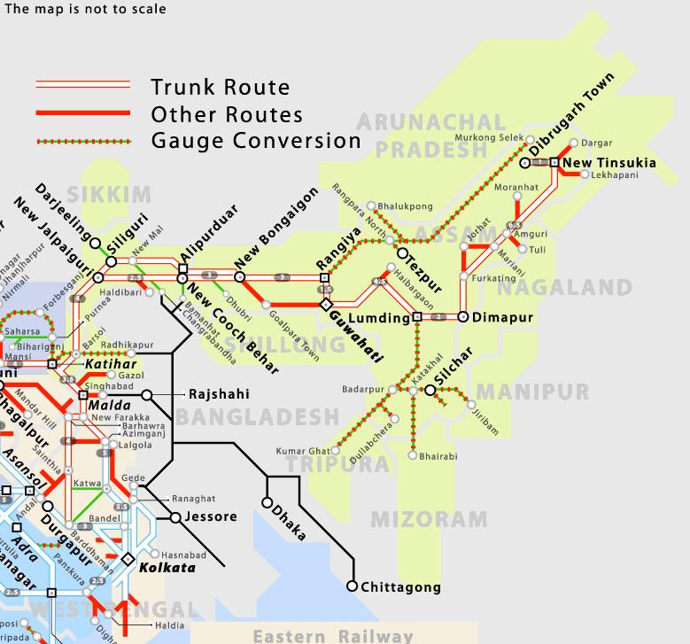 Northeast India railway